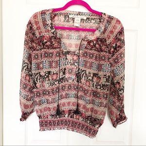 AMERICAN RAG sheer blouse